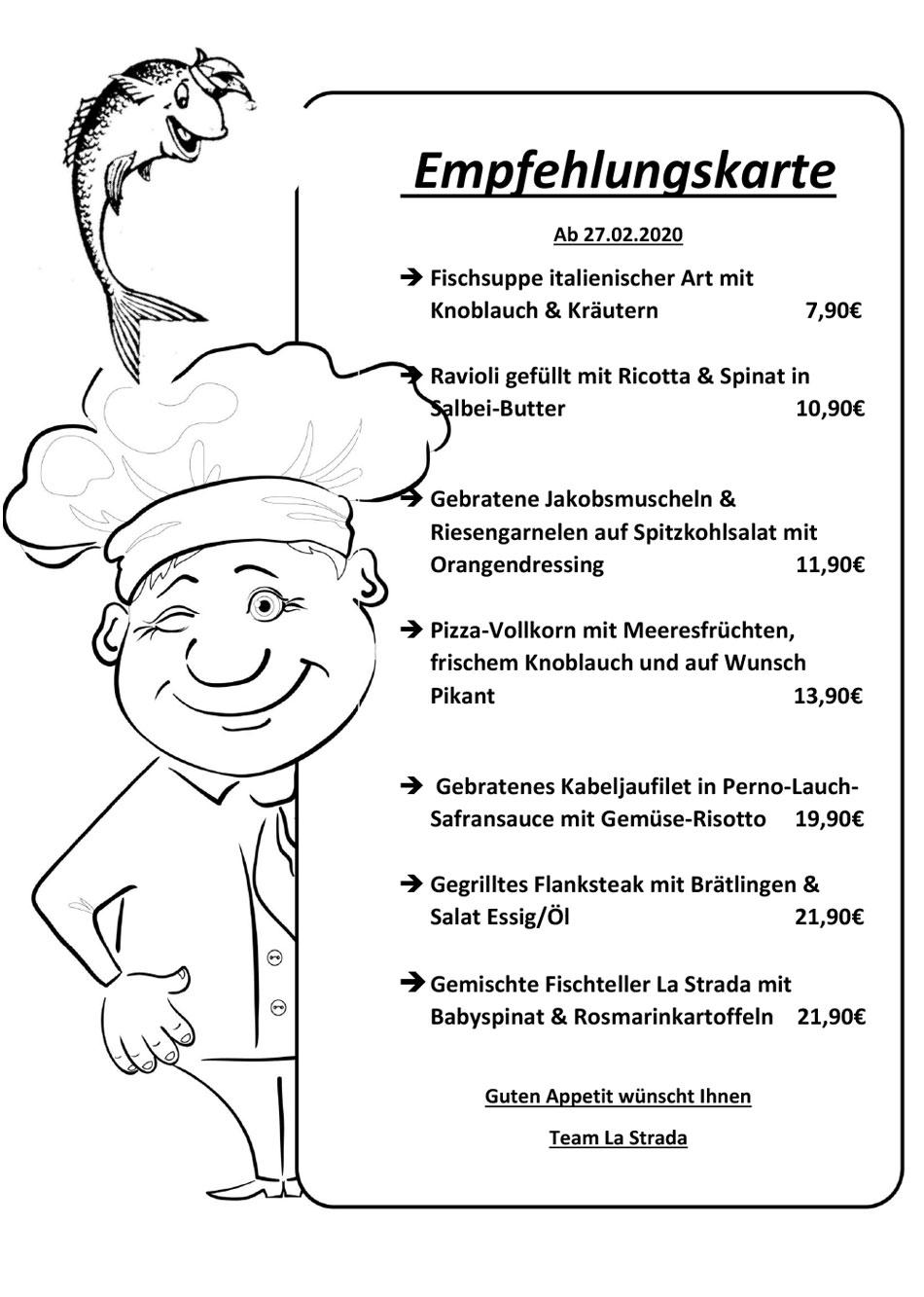 La-Strada-Empfehlungskarte